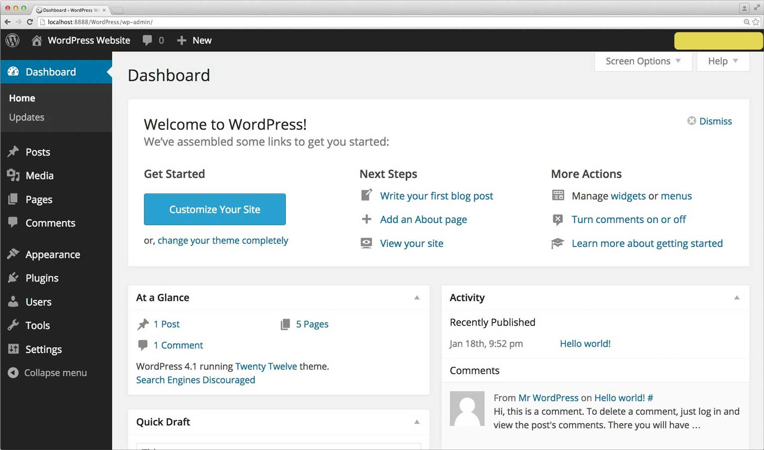 introduction to your wordpress dashboard savvyproblogger