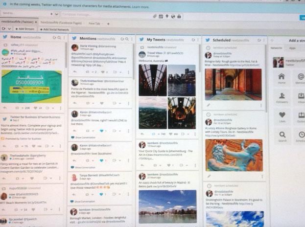 hootsuite dashboard savvyproblogger
