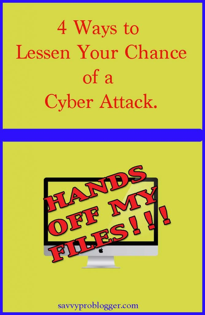 lessen chance of cyber attack pinterest