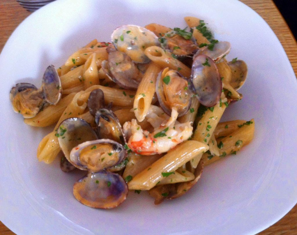 misconceptions about frugality pasta plate