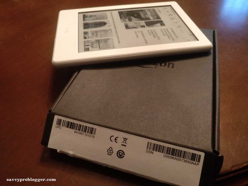side view of Kindle e-reader