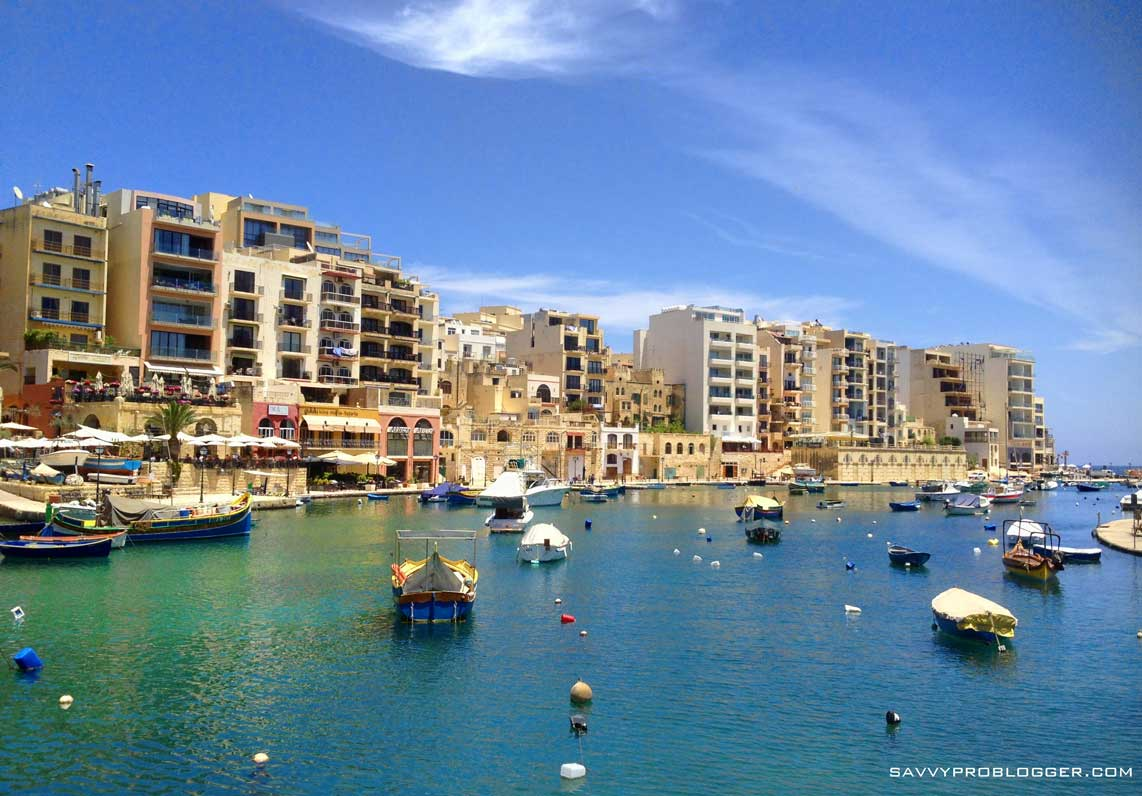 snapshot of sunny beautiful malta