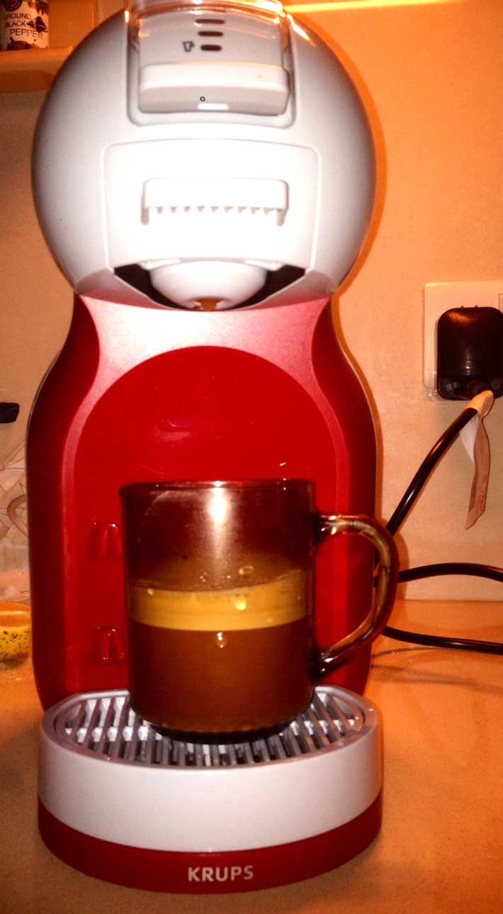 krups coffee maker and coffee