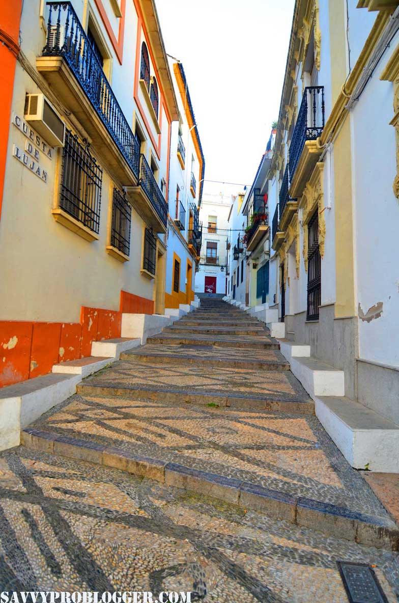 street stairway cordoba spain